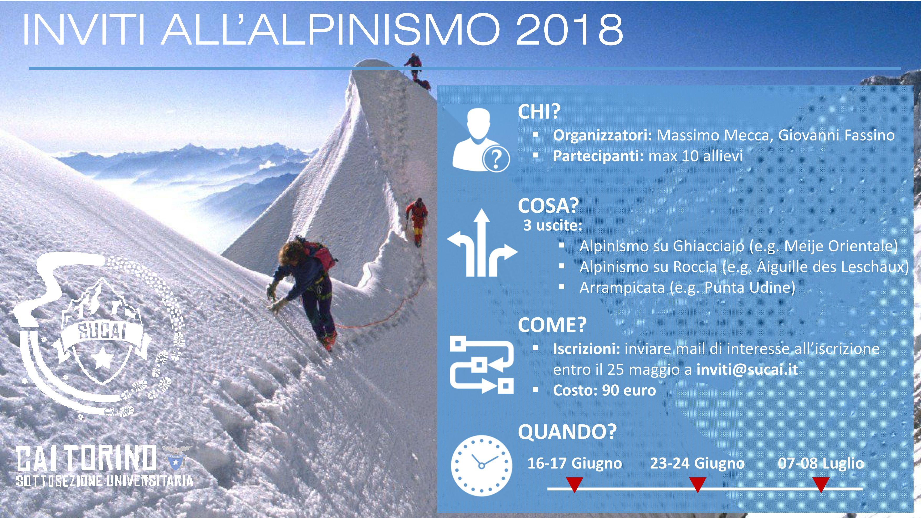 Presentazione Inviti Alpinismo 20181