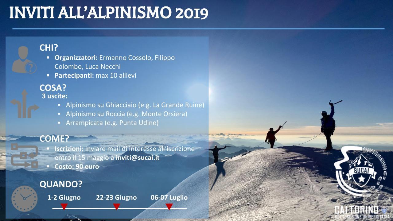 Presentazione Inviti Alpinismo 2019